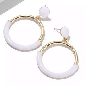Zara | white gold earrings